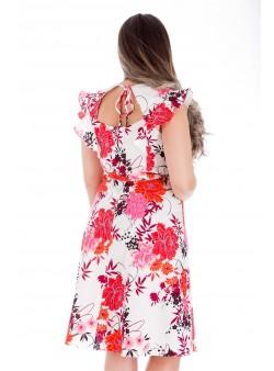 Rochie din poplin cu imprimeu floral