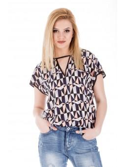 Bluza cu imprimeu geometric