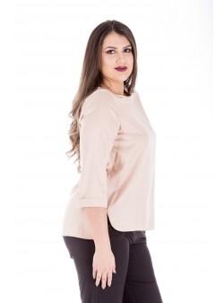Bluza roz cu maneca trei sferturi