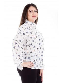 Bluza cu imprimeu si platcuta din dantela