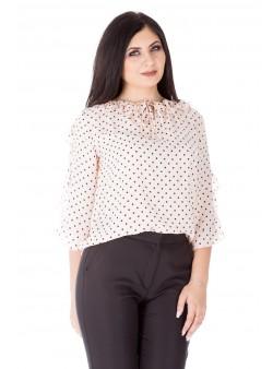 Bluza cu imprimeu si  croiala dreapta