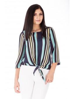 Bluză multicoloră casual