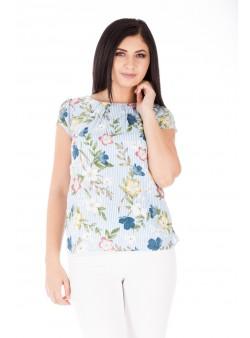 Bluză de zi cu imprimeu floral