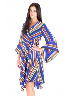 Rochie midi multicoloră petrecută