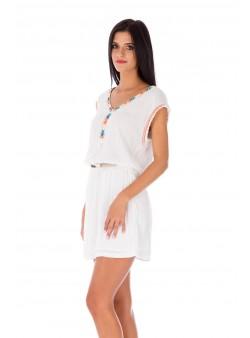 Rochie albă scurtă de zi