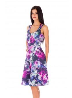 Rochie de zi în culori pastel