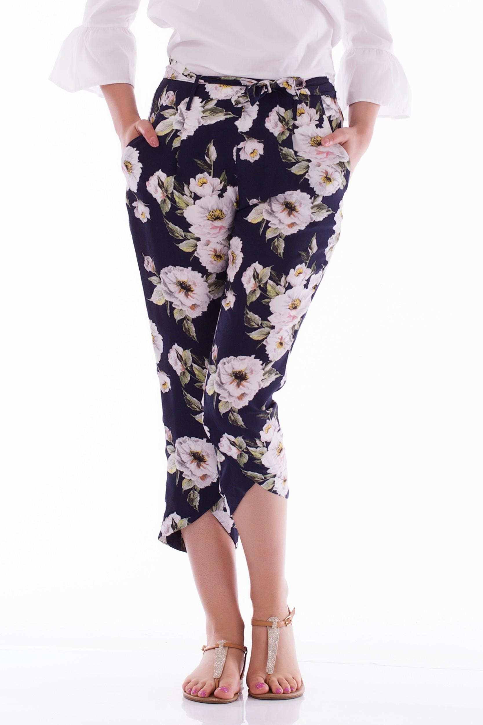 Pantaloni cu imprimeu de vara
