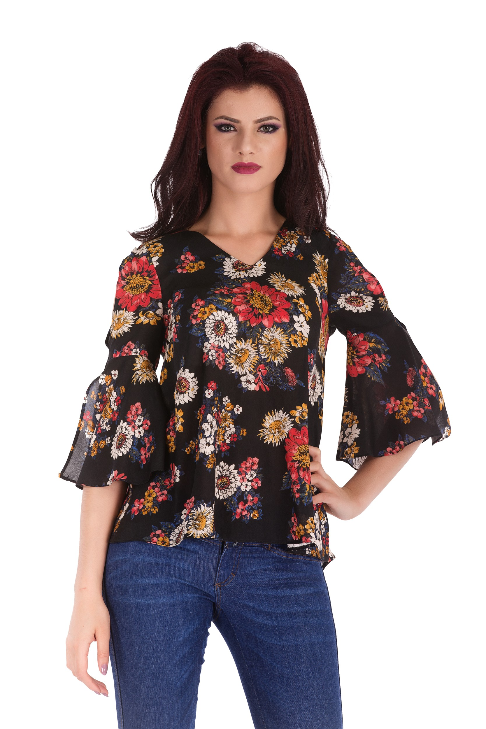 Bluza cu imprimeu floral