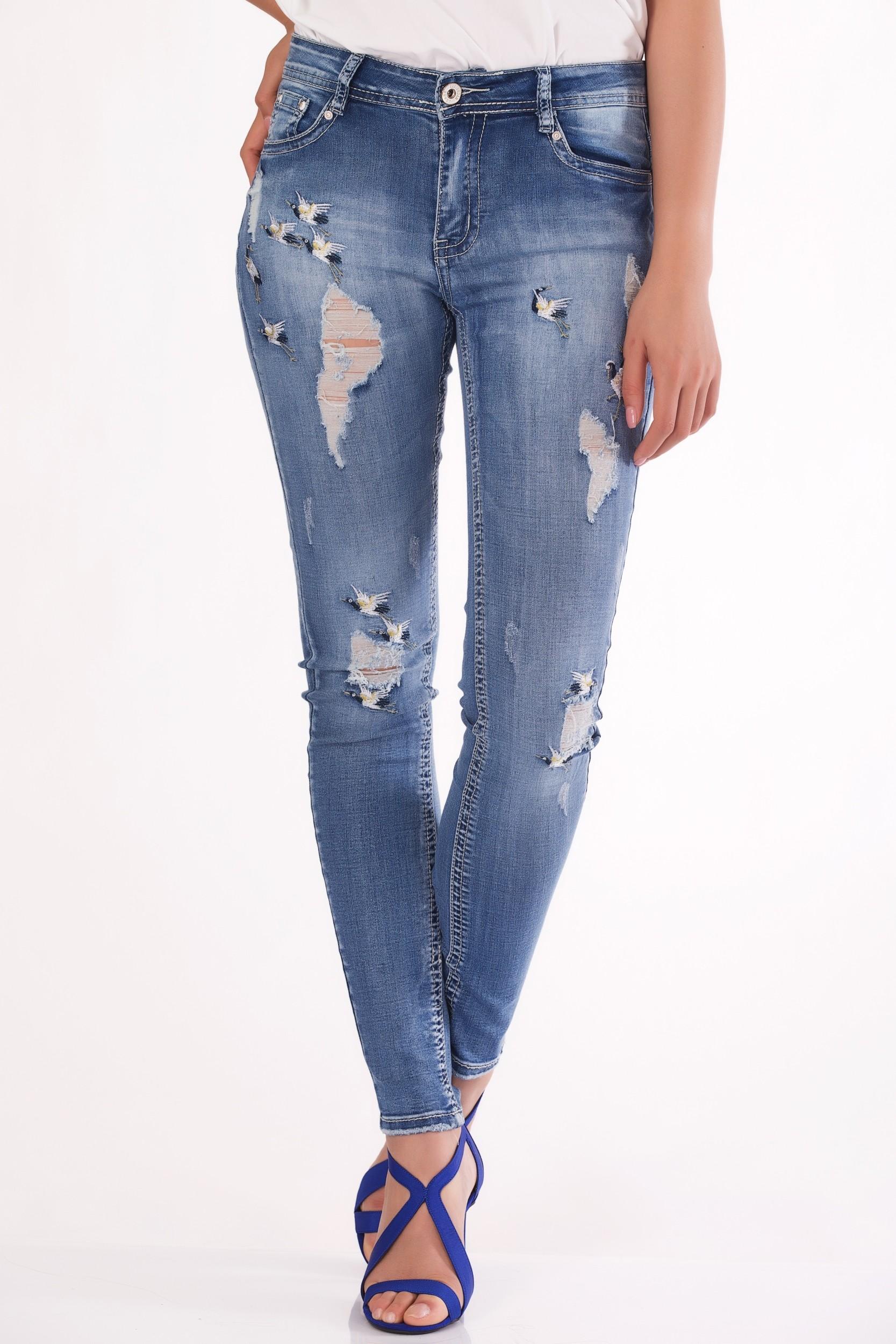 Jeans cu talie medie