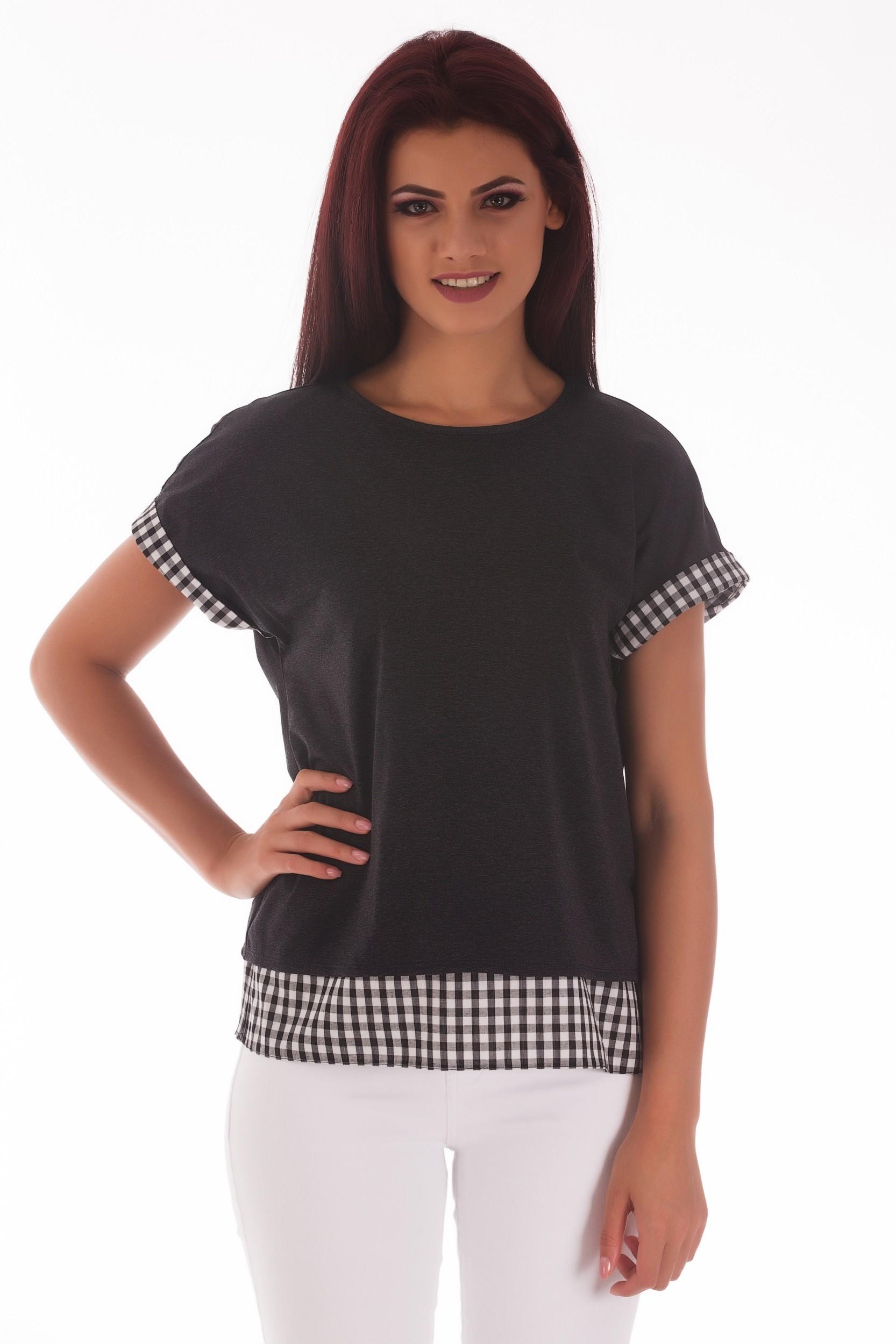 Bluza imprimeu geometric