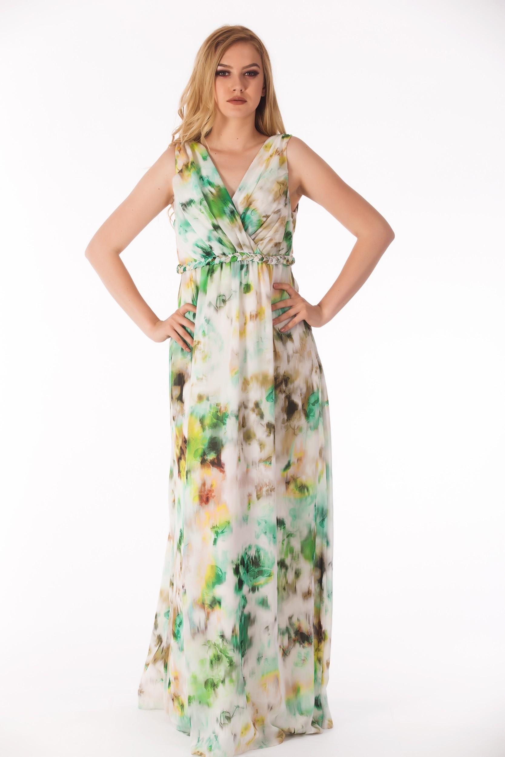 Rochie maxi multicolora