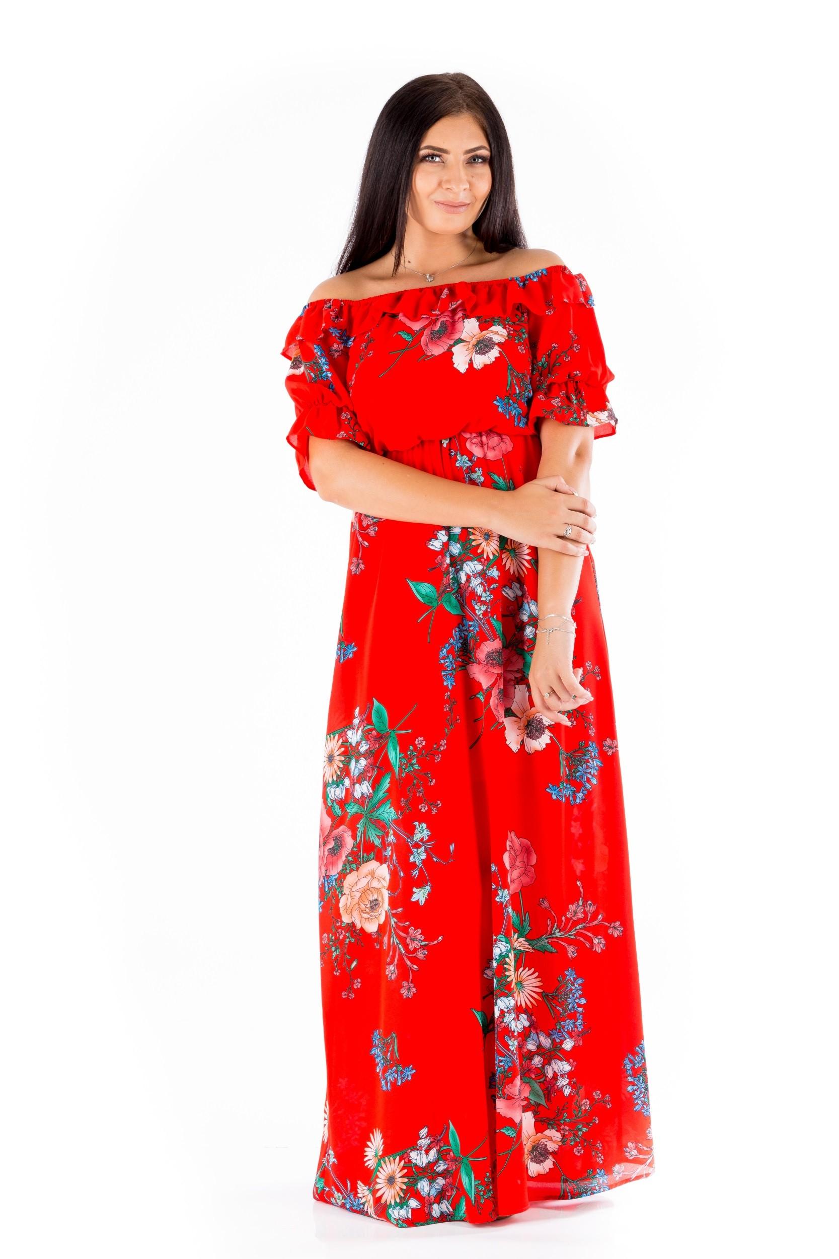 Rochie roșie hispanică