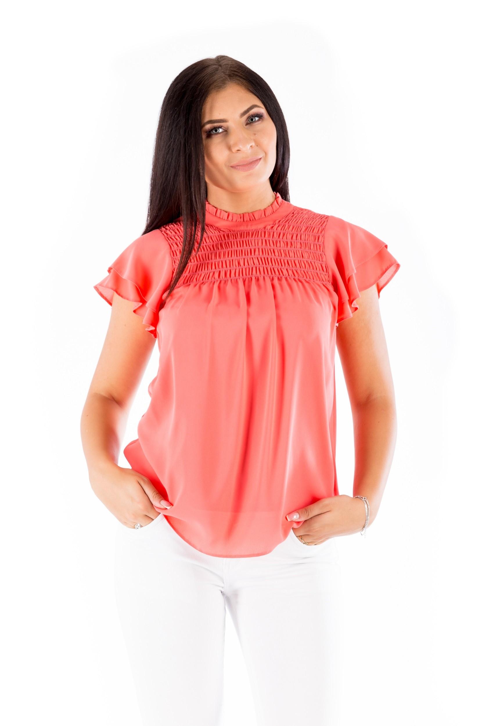 Bluză roz de zi