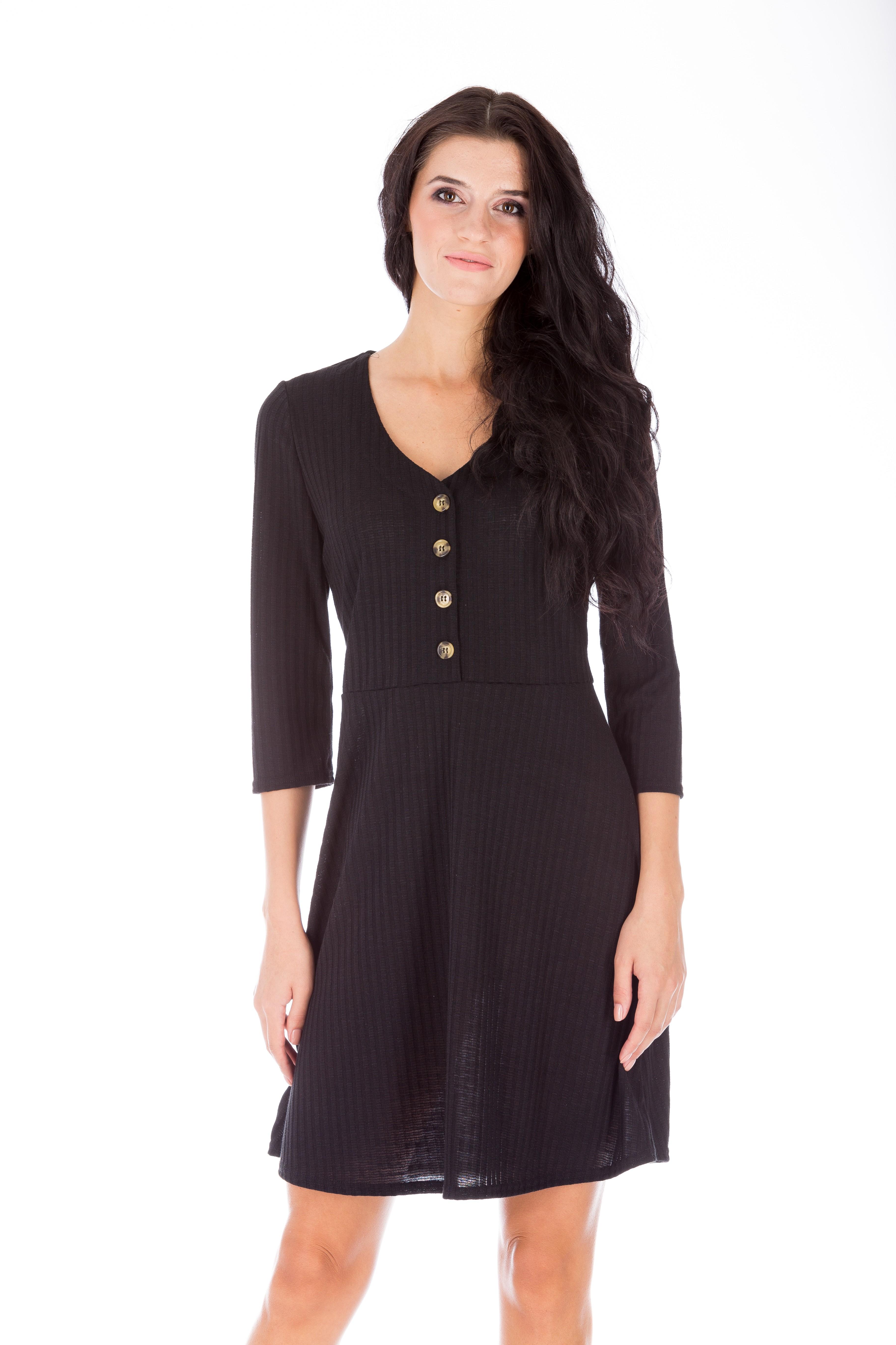 Rochie neagră de zi
