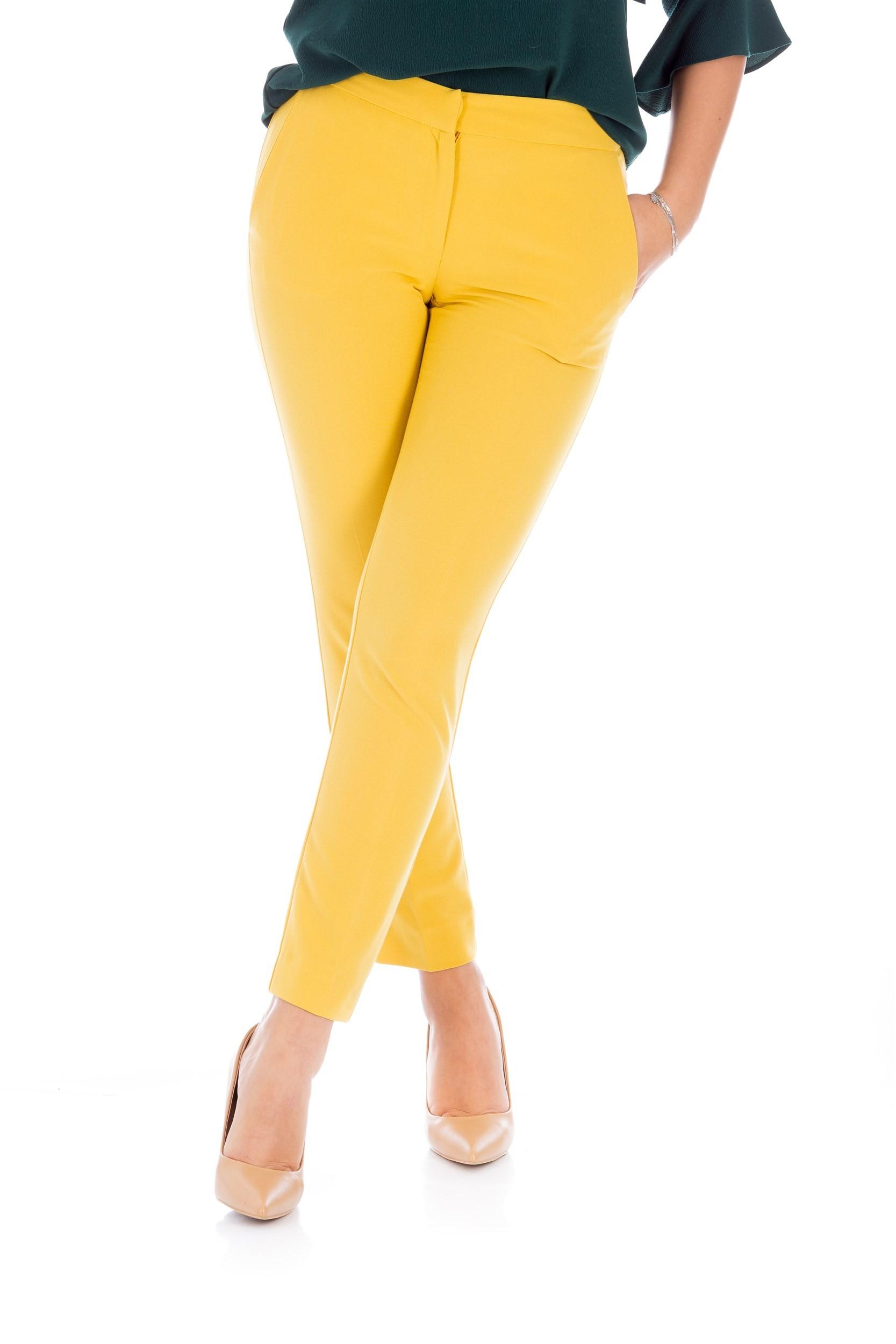 Pantalon skinny muștar