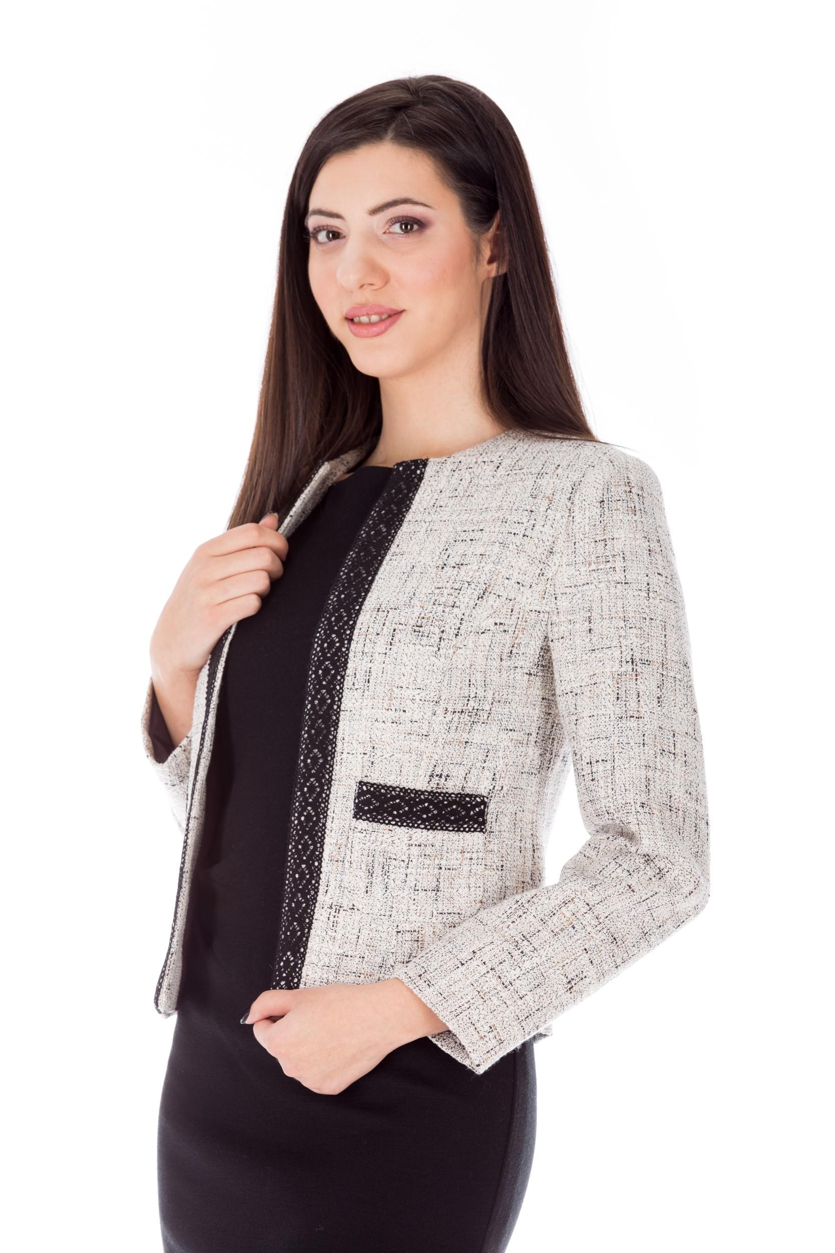 Jachetă gri scurtă office