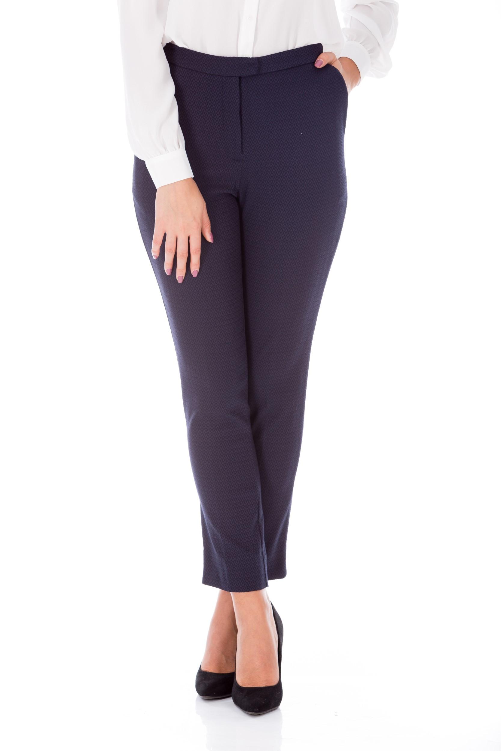 Pantaloni bleumarin conici