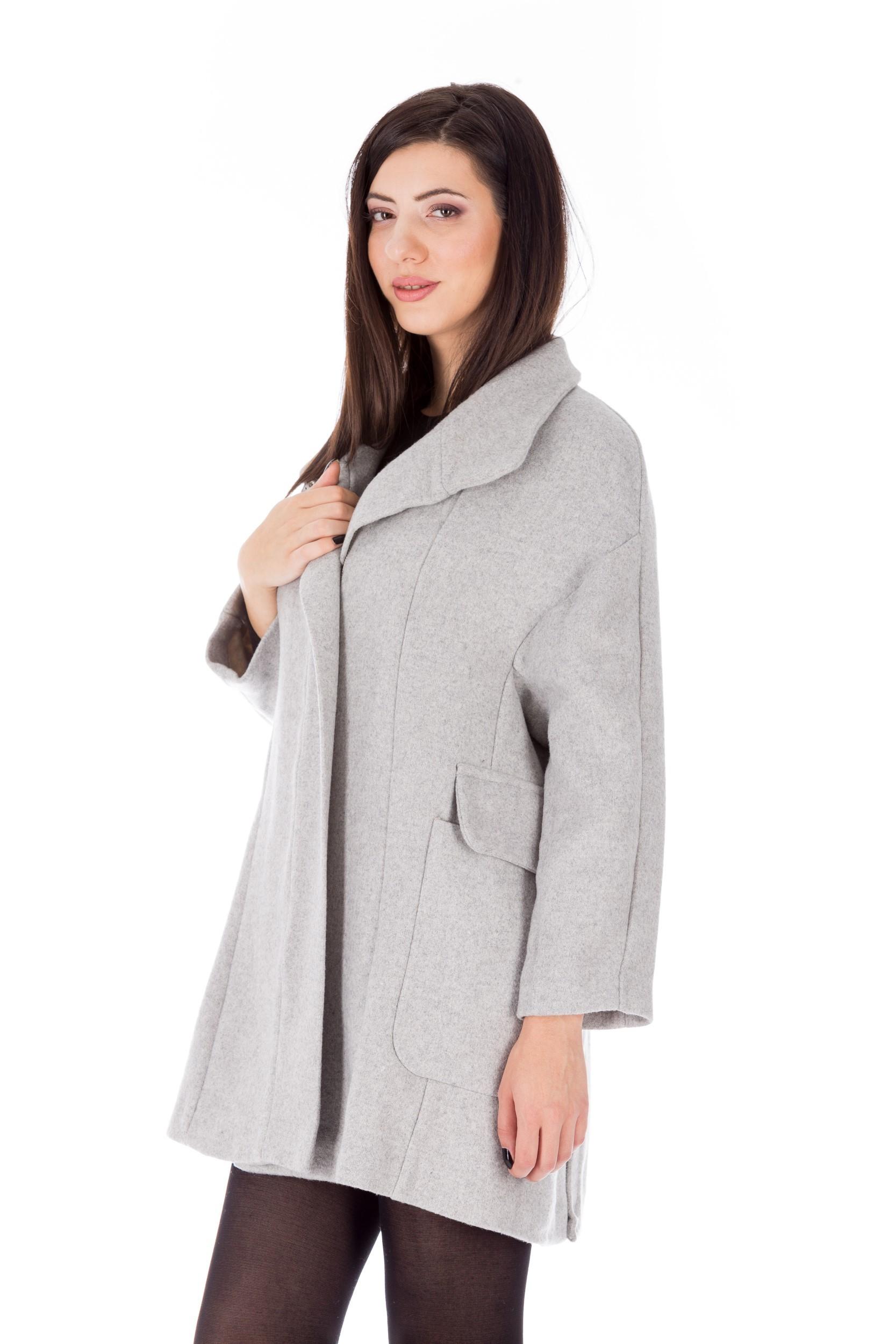 Palton gri casual