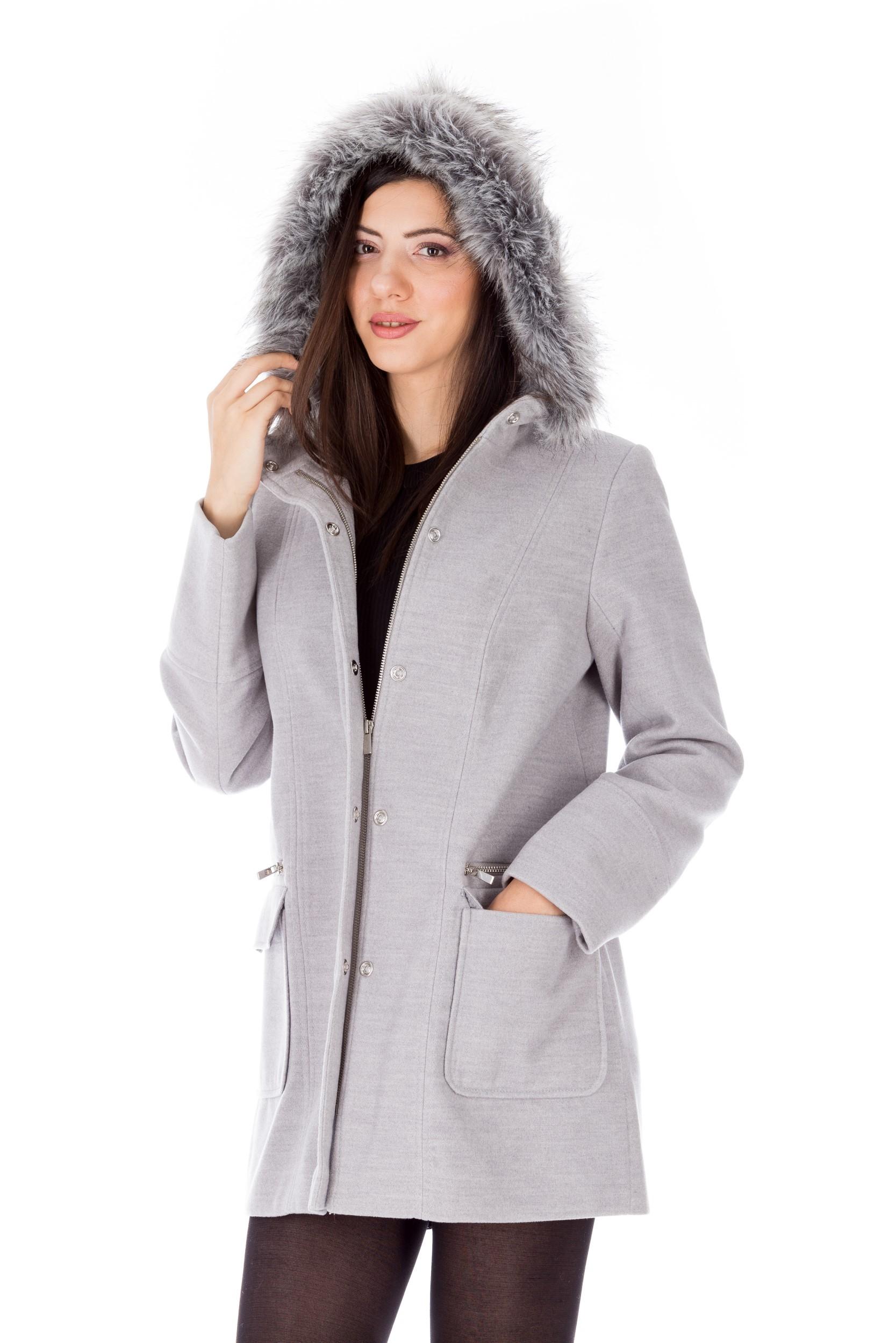 Palton scurt gri