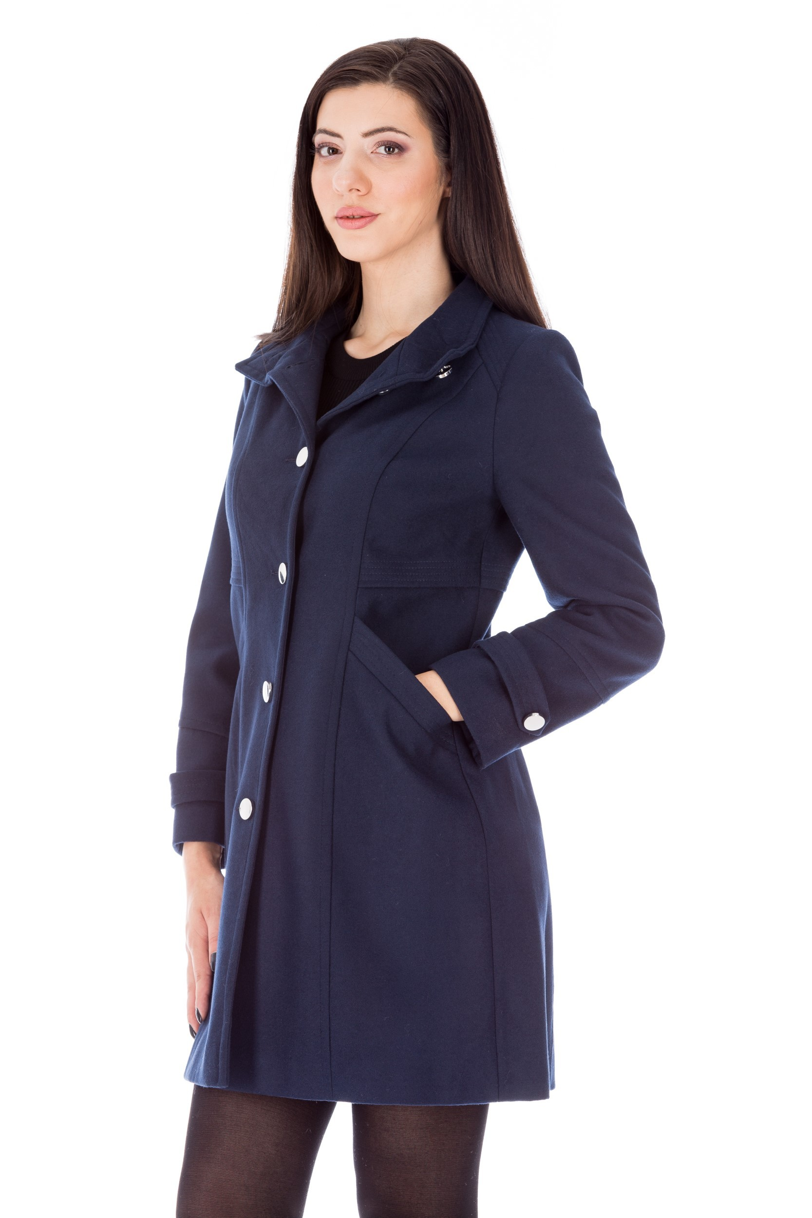 Palton bleumarin casual