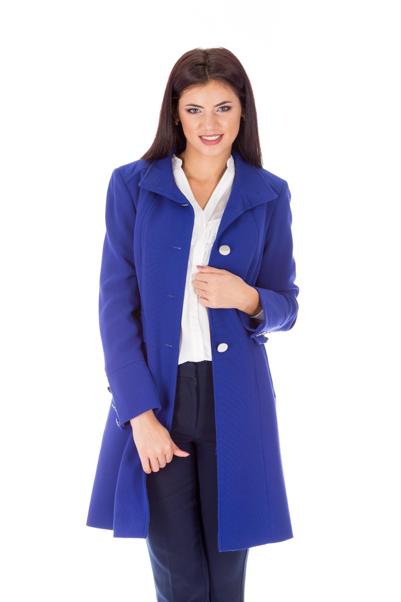 Palton albastru electric