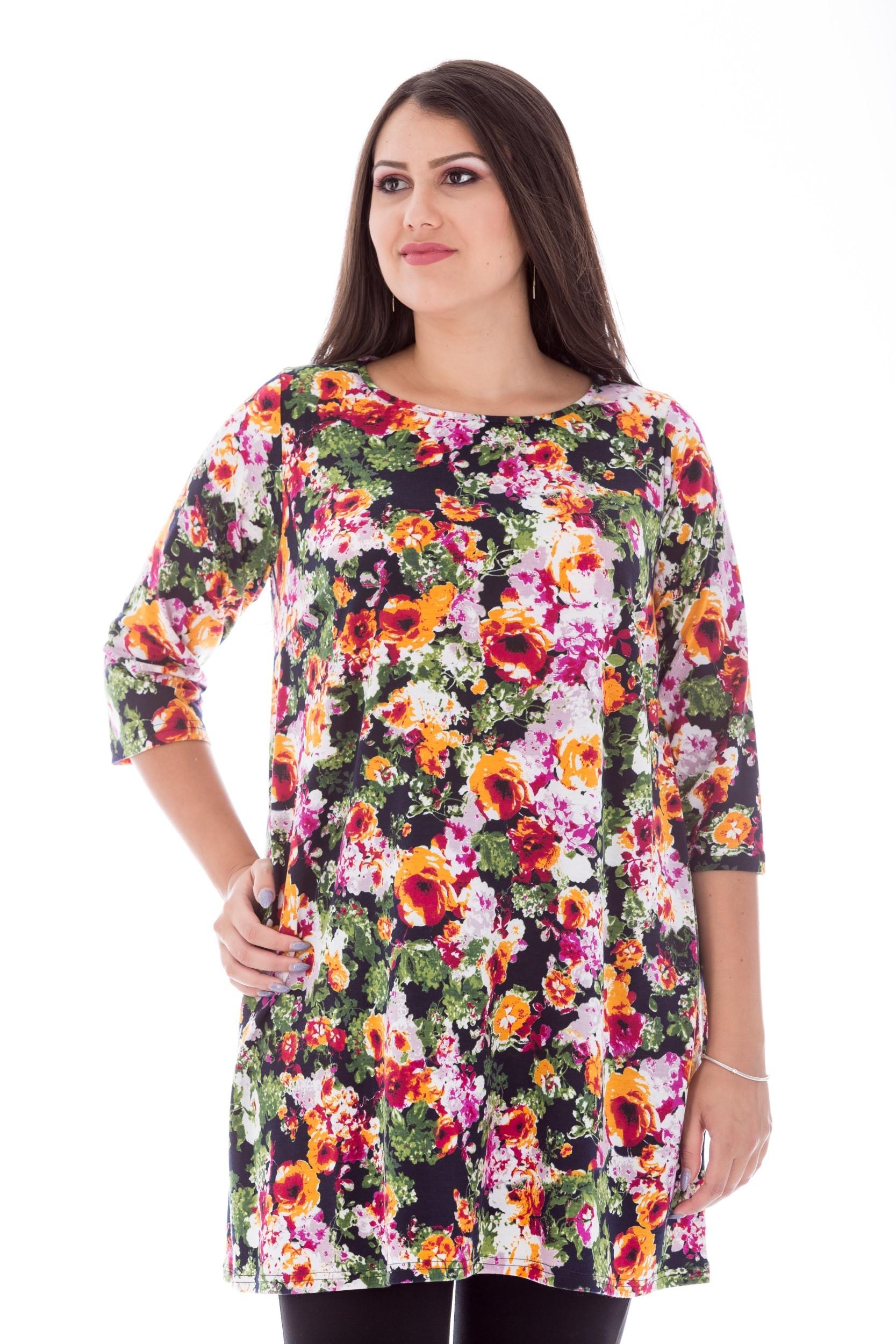 Tunica cu imprimeu floral
