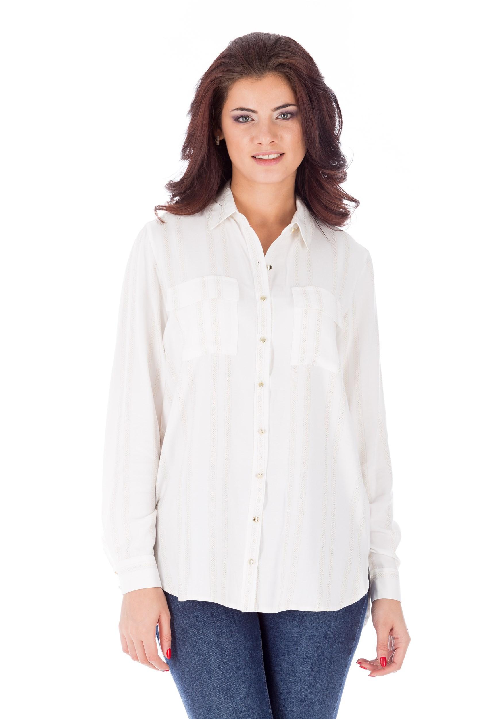 Bluză albă din bumbac
