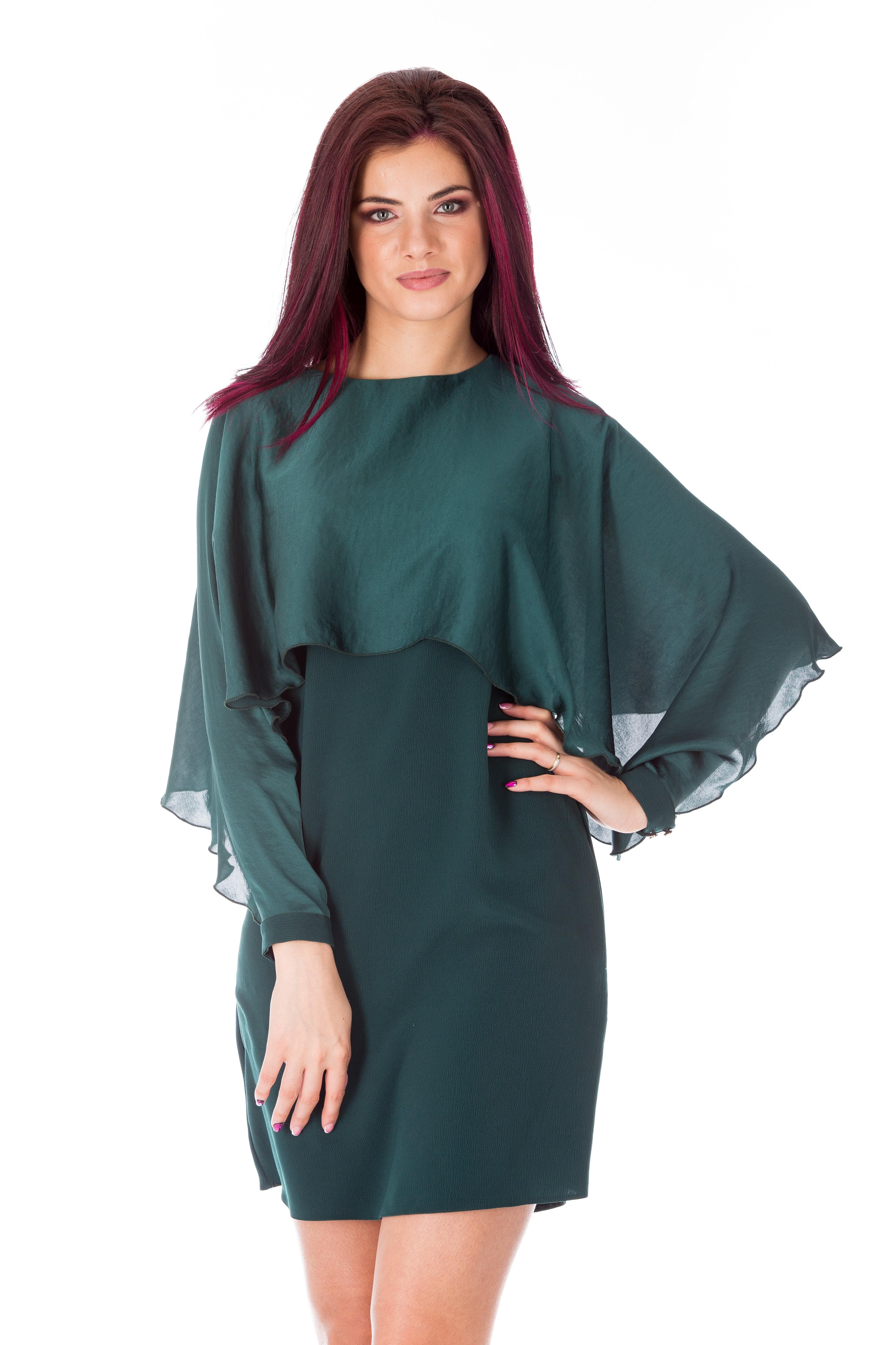 Rochie verde-smarald eleganta de seara
