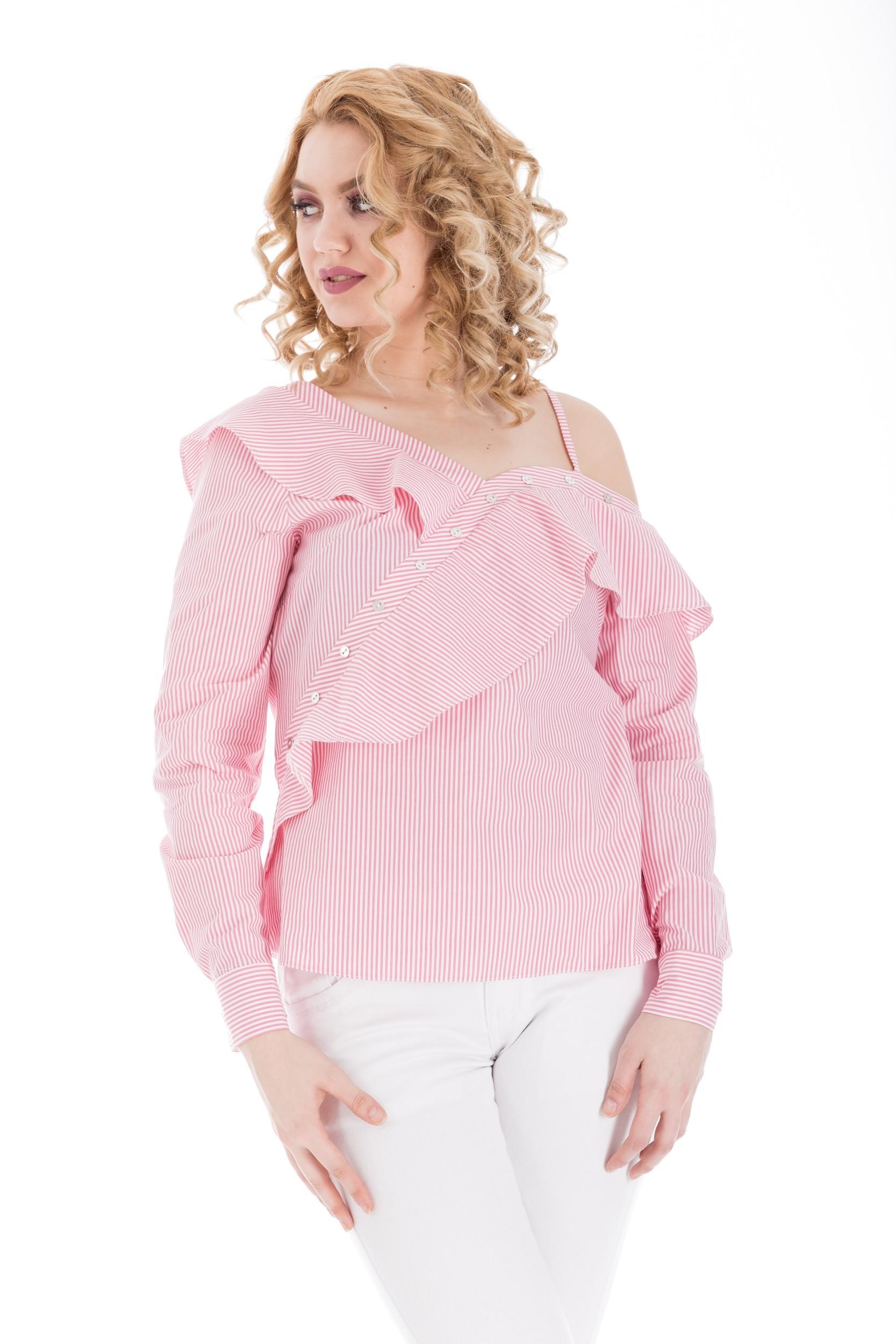 Bluza asimetrica din bumbac