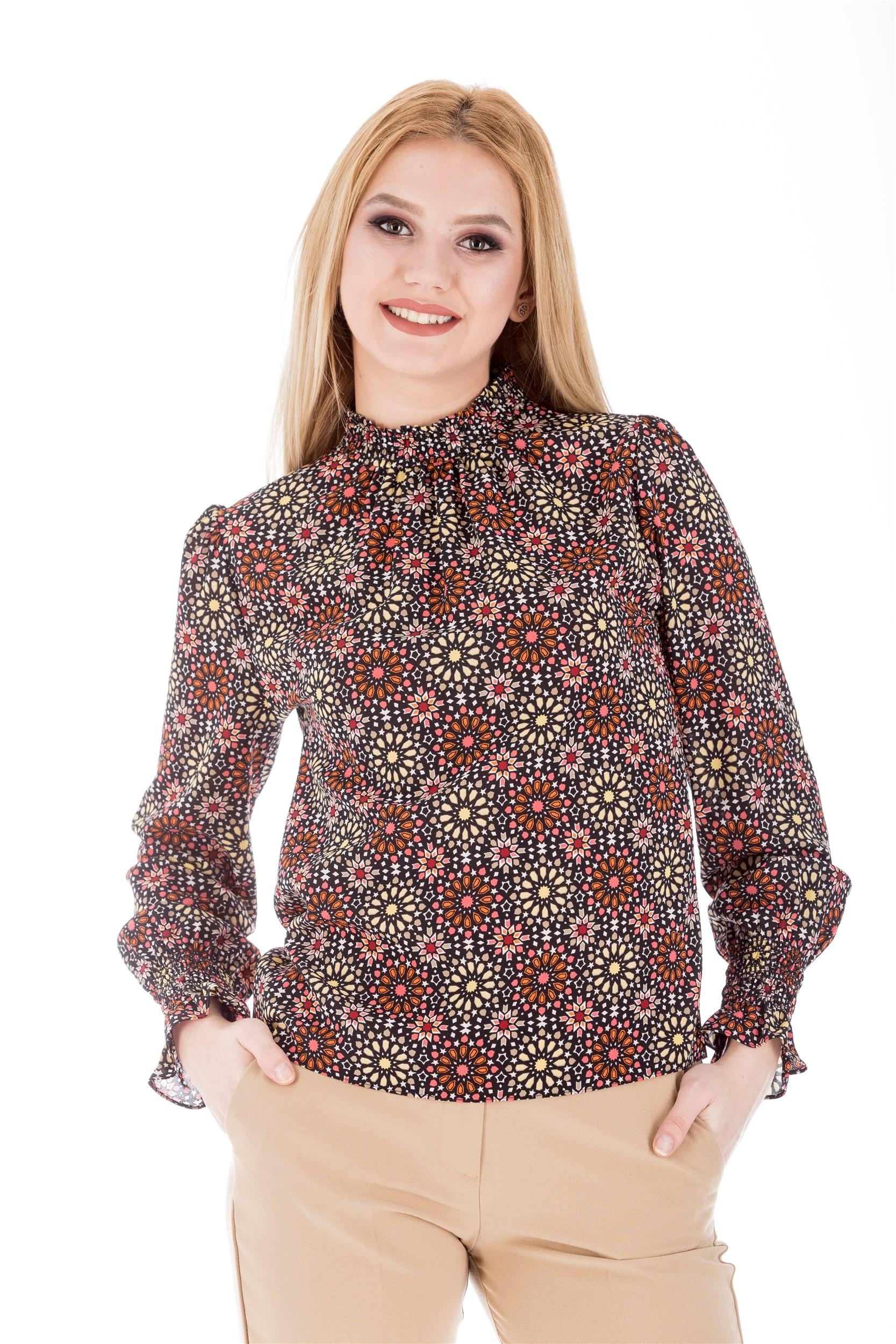 Bluza cu siring si imprimeu
